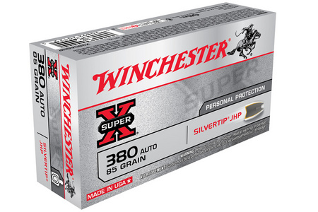 WINCHESTER AMMO 380 Auto 85 gr Silvertip Hollow Point Super-X 50/Box