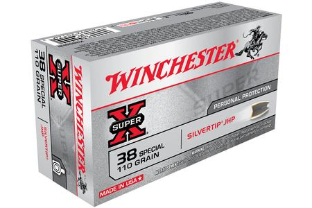 Winchester 38 Special 110 gr Silvertip Hollow Point Super X 50/Box