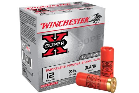 WINCHESTER AMMO 12 Ga 2 3/4 in Smokeless Powder Blank Load Super X 25/Box