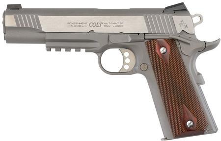 1911 STAINLESS 9MM RAIL GUN (LE)