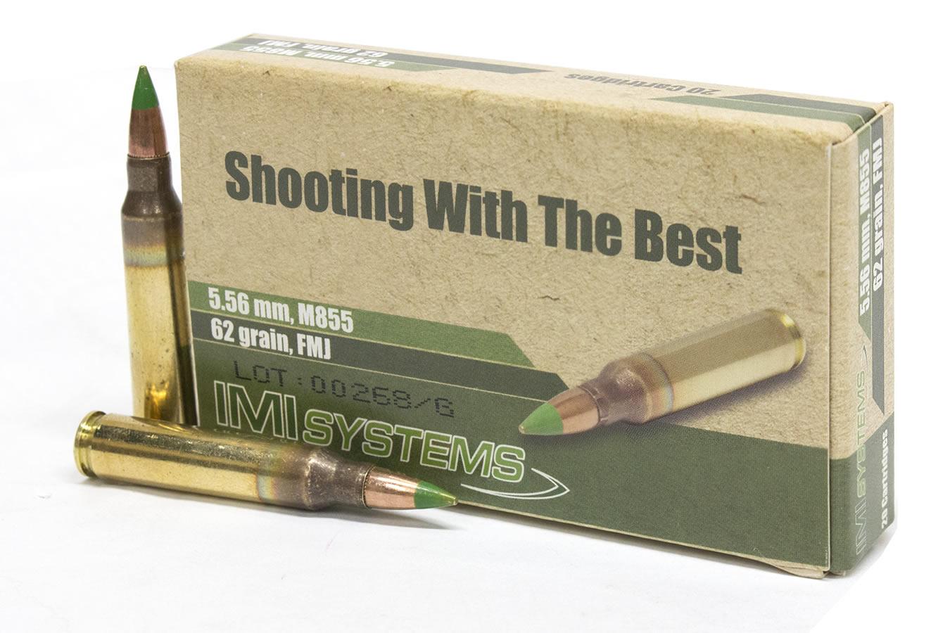 imi 5 56mm 62 gr m855 penetrator green tip ammo 20 box sportsman s