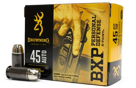 BROWNING AMMUNITION 45 Auto 230 gr X-Point HP Personal Defense 20/Box