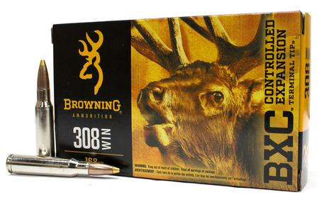 Browning 308 Win 168 gr BXC Controlled Expansion Big Game 20/Box