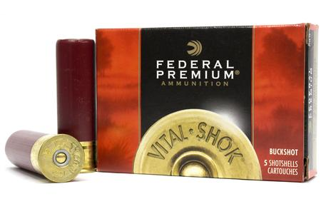 FEDERAL AMMUNITION 12 Gauge 3-in Magnum 15 Pellet - 00 Buck Vital Shok 5/Box