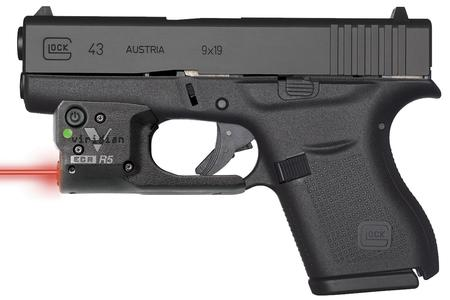 GLOCK 43 9MM PISTOL WITH VIRIDIAN RED LASER