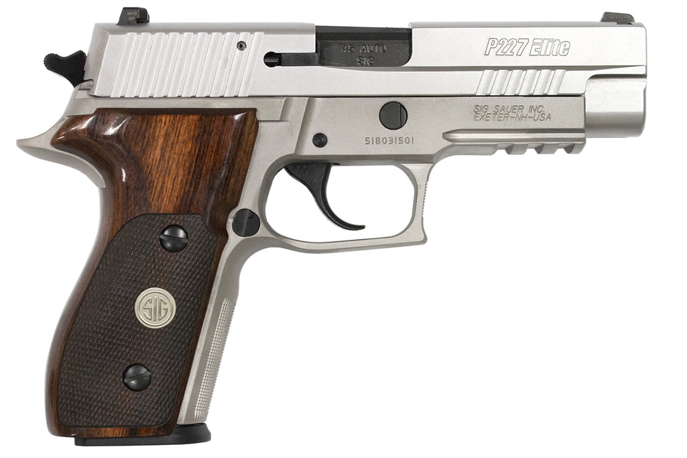sig sauer p227 elite 45 acp alloy stainless with night sights