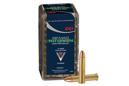 CCI 22 WMR 30 gr Lead Free HP TNT Green 50/Box