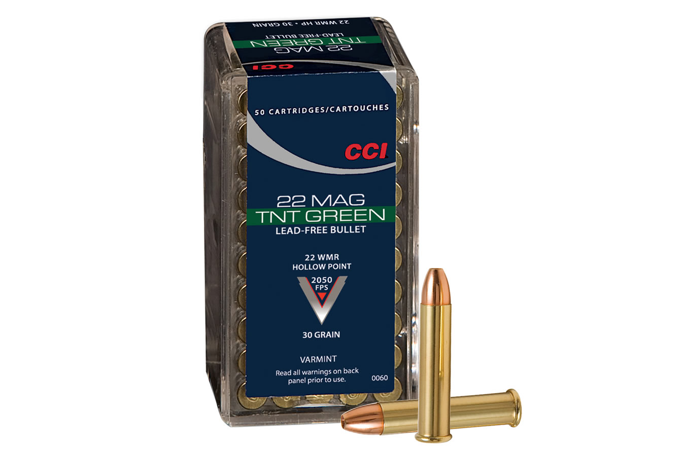 22 WMR 30 gr Lead Free HP TNT Green 50/Box