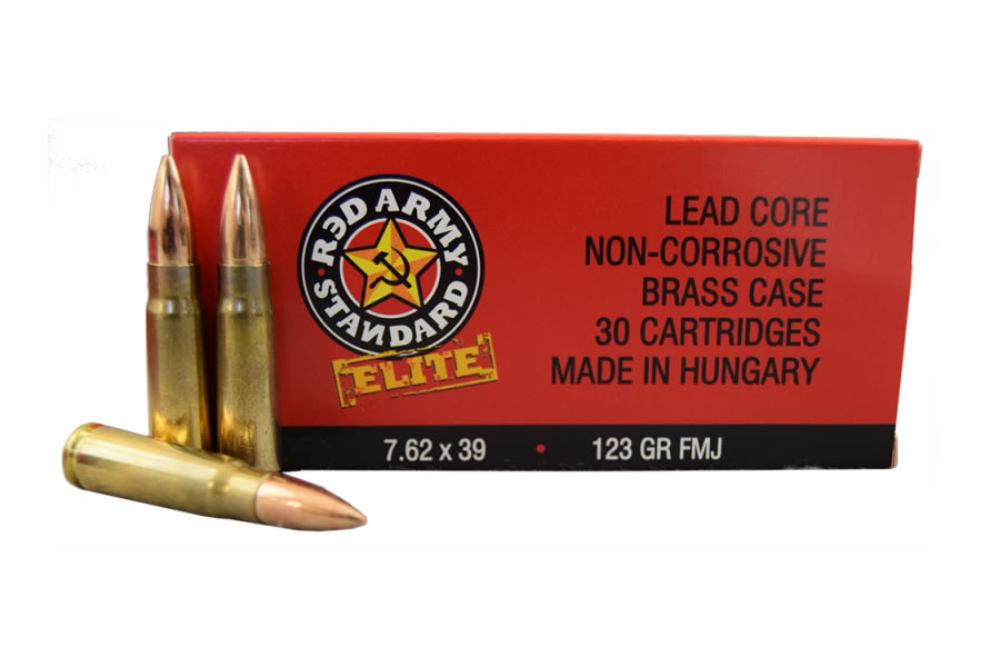 7.62X39MM 123 GR FMJ RED ARMY ELITE