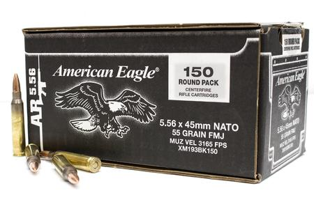 Federal American Eagle .223 (5.56x45mm) FMJ 55 Grain 150 Rounds