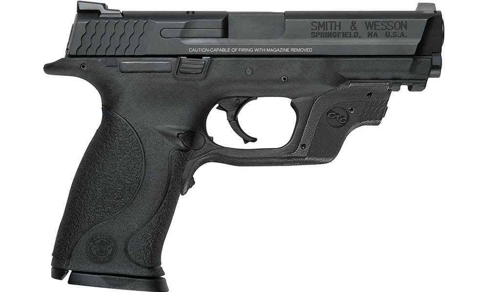 M&P9 9mm Full-Size Pistol with Crimson Trace Green Laserguard and No Thumb  Safety (LE)