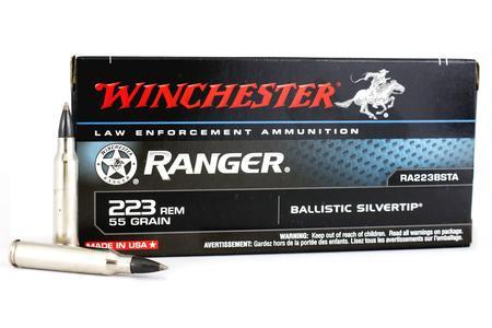Winchester 223 Rem 55 gr Ballistic Silvertip Ranger Trade Ammo 20/Box