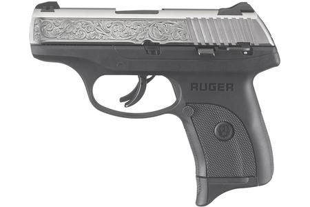 LC9S 9MM ENGRAVED NICKEL W/ THUMB SAFETY