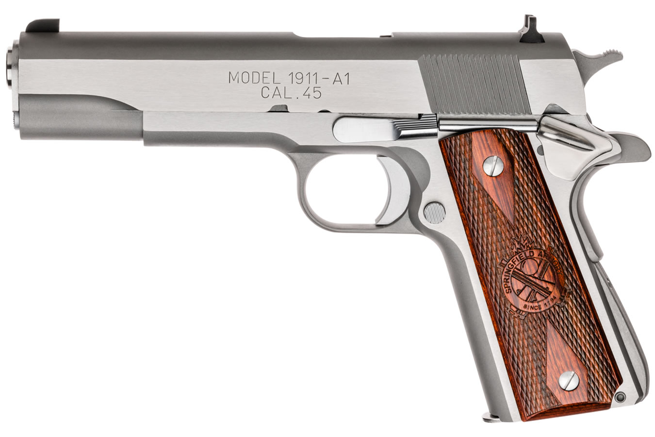 No. 5 Best Selling: SPRINGFIELD 1911 MIL-SPEC 45ACP STAINLESS ESSENTIALS