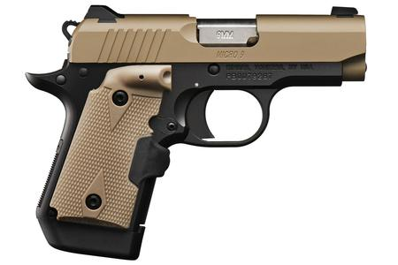 KIMBER Micro 9 Desert Tan (FDE) 9mm with Crimson Trace Lasergrips