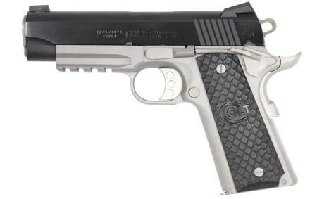 COLT 1911 COMMANDER RAIL GUN TWO-TONE 45 ACP