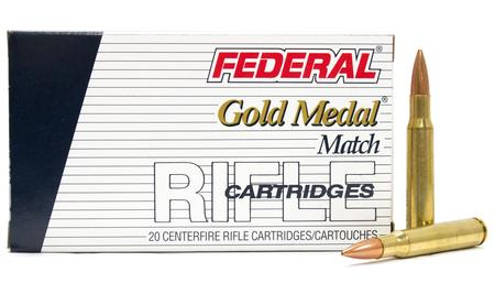 FEDERAL AMMUNITION 30-06 Springfield 168 gr Sierra MatchKing BTHP Gold Medal Match Police Trade 20/Box
