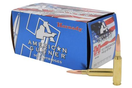 HORNADY 6.5 Creedmoor 140 gr BTHP American Gunner 50/Box