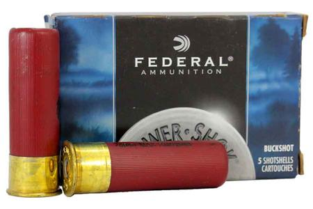 FEDERAL AMMUNITION 12 Gauge 3 inch 15 Pellets-00 Buck 5/Box