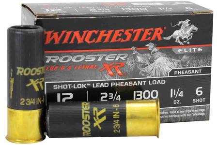 Winchester 12 Gauge 2-3/4 inch 1-1/4 oz 6 Shot Rooster XR 15/Box
