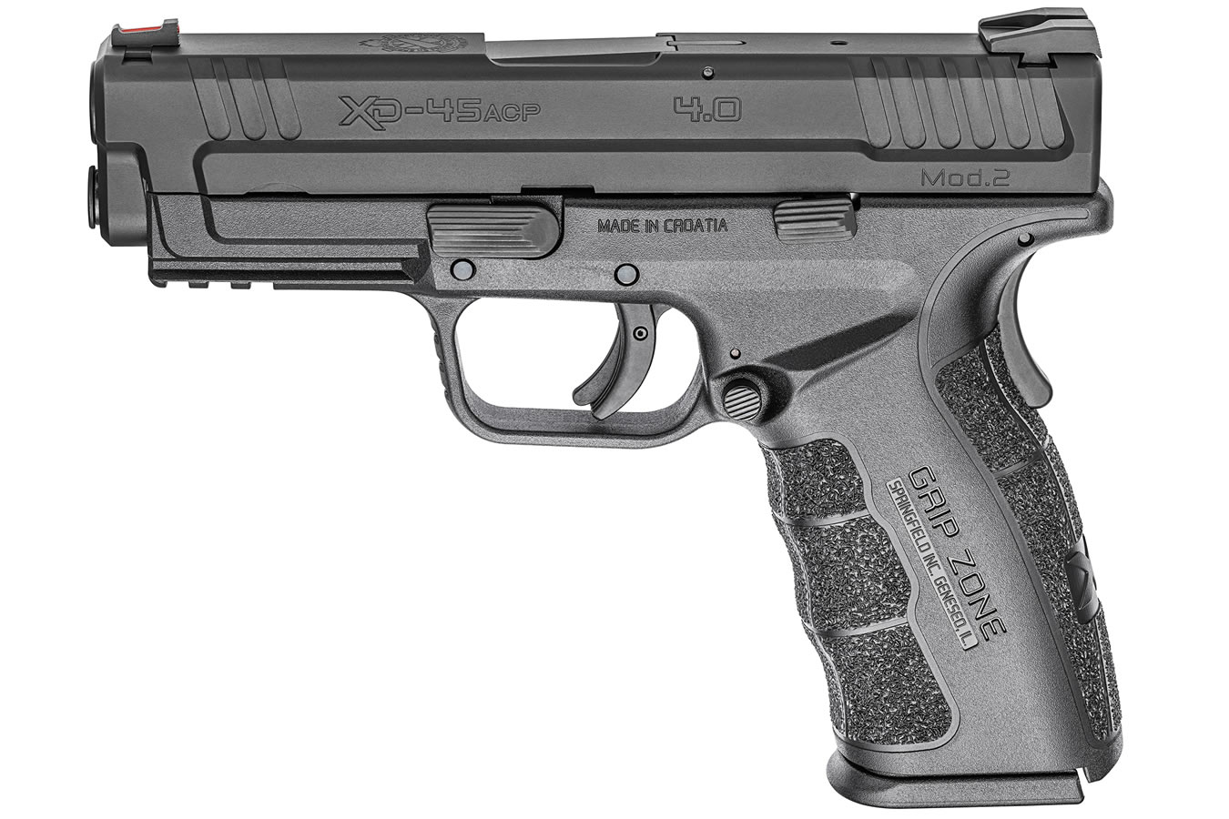 XD Mod 2 45ACP 4 0 Service Model Black Essentials Package with GripZone