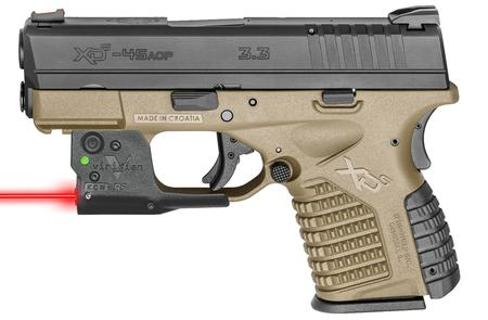 SPRINGFIELD XDS 3.3 45 FDE W/ VIRIDIAN RED LASER