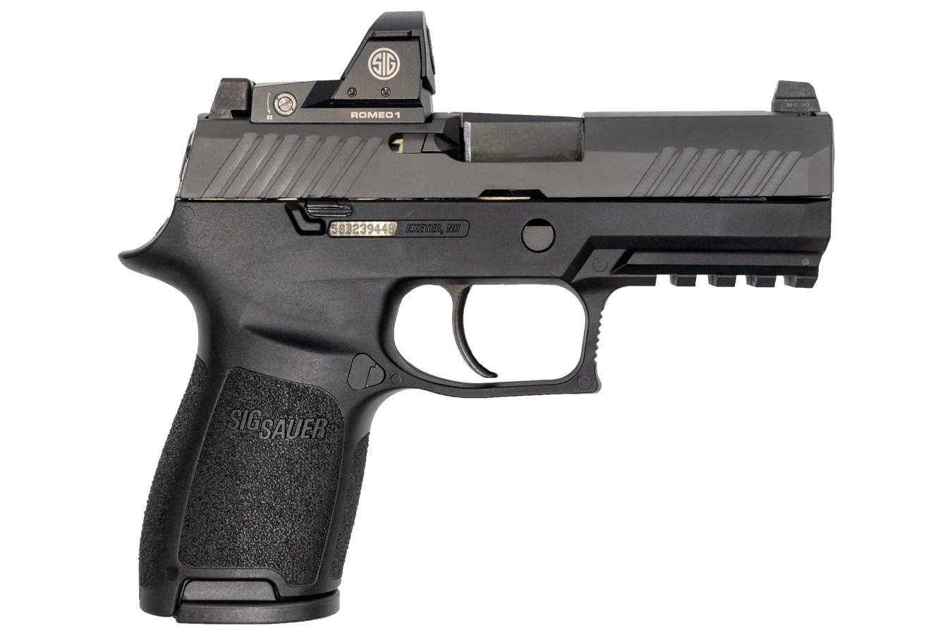 P320 Compact 9mm Striker-Fired Pistol with ROMEO1 Reflex Sight and Night  Sights