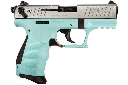 Walther P22 22LR Rimfire Pistol with Angel Blue Frame