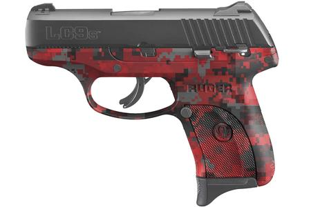 RUGER LC9S 9MM RED DIGITAL CAMO
