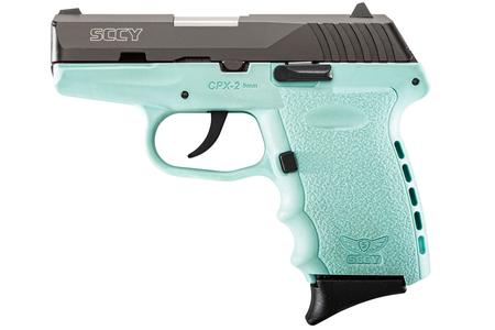 SCCY CPX-2 9mm Aqua Blue Pistol with Black Slide