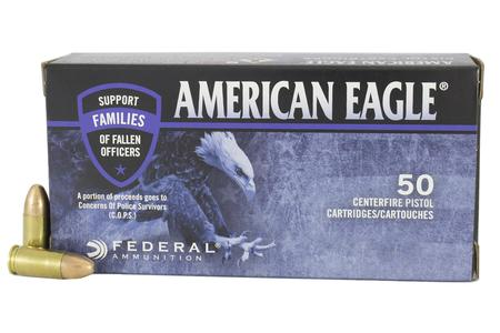FEDERAL AMMUNITION 9mm Luger 115 gr FMJ American Eagle C.O.P.S. 50/Box