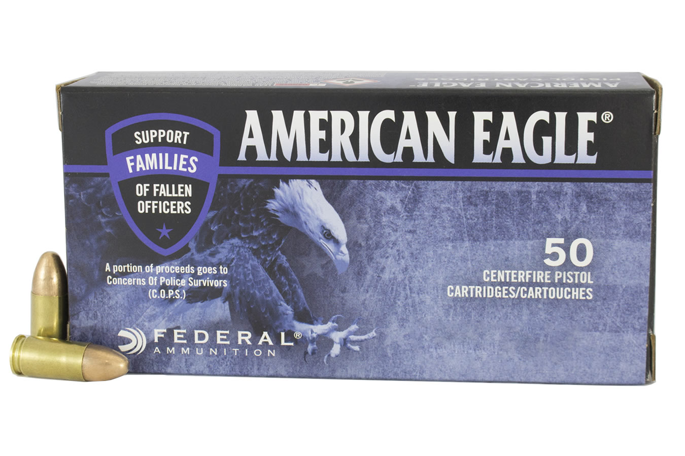 FEDERAL AMMUNITION 9MM 115GR FMJ AMERICAN EAGLE C.O.P.S.