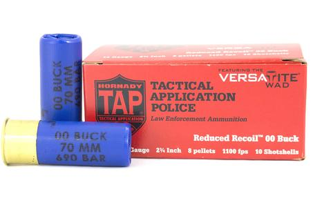 HORNADY 12 GA 2 3/4 TAP REDUCED RECOIL 00 TRADE