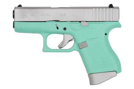 GLOCK 43 9MM ROBINS EGG BLUE CERAKOTE