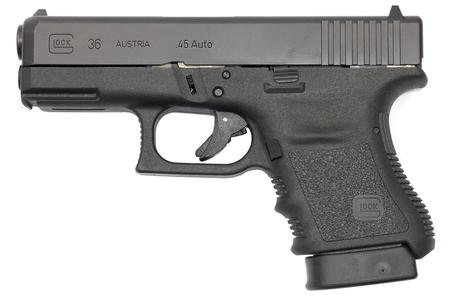 GLOCK 36 GEN3 45 ACP WITH FINGER GROOVE RAIL