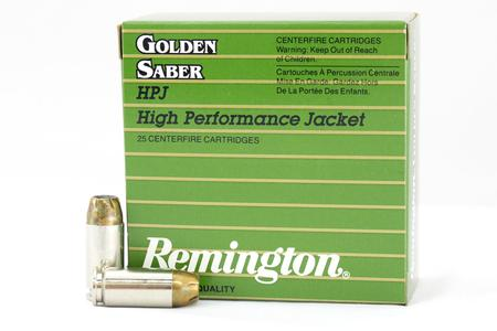 Remington 40SW 165 gr BJHP Golden Saber High Performance Police-Trade Ammo 25/Box