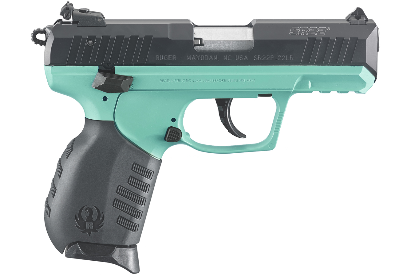 ruger pistol sr22 turquoise 22lr cerakote rimfire pistols 9mm guns sr firearms sportsman frame