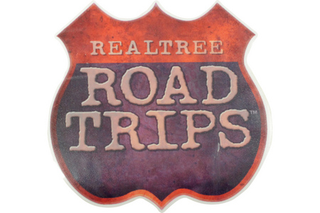 REALTREE ROAD TRIPS 8` X 8` LOGO DECAL
