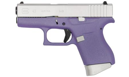 GLOCK 43 9MM PURPLE/ALUMINUM CERAKOTE