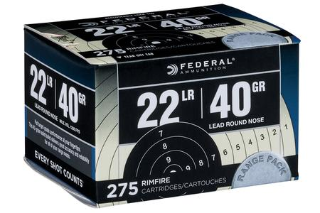 FEDERAL AMMUNITION 22LR 40 gr Lead Round Nose 275 Round Range Pack