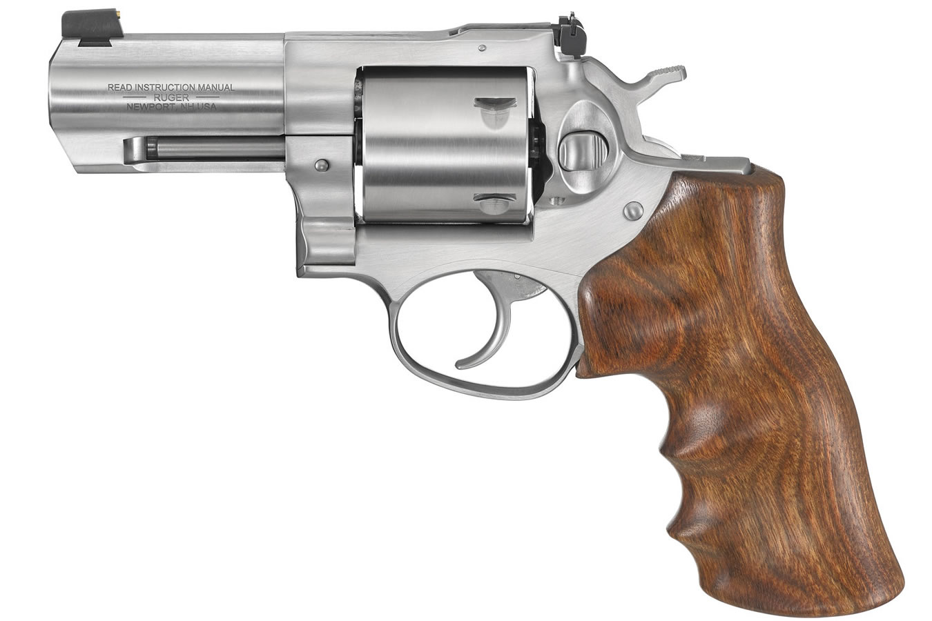 RUGER GP100 44 SW SPECIAL W/WALNUT HOGUE GRIPS