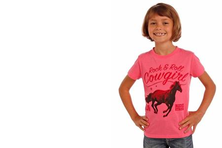 GIRLS SS TSHIRT HORSE GRAPHIC