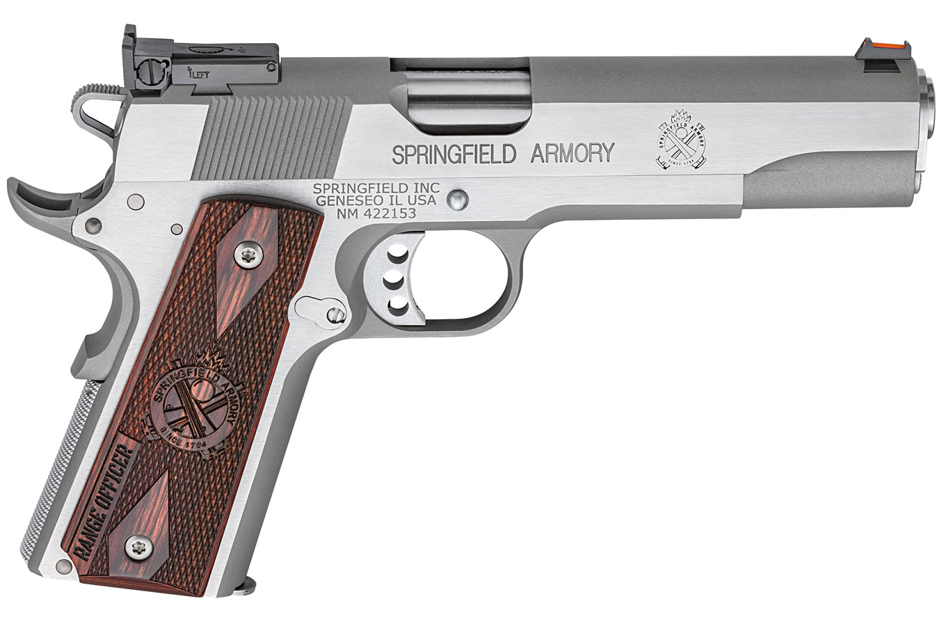 Springfield 1911 Range Officer 45ACP Stainless Steel with Adjustable ...