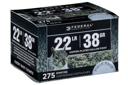 Federal 22LR 38 gr Copper Plated Hollow Point 275 Round Field Pack