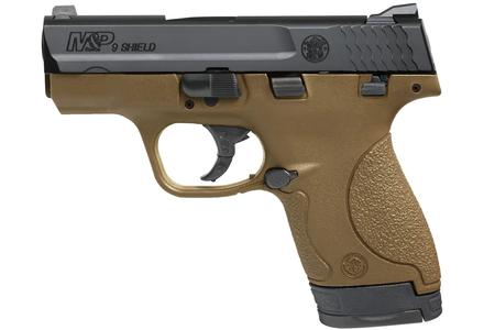 SMITH AND WESSON MP9 SHIELD 9MM FDE WITH THUMB SAFETY
