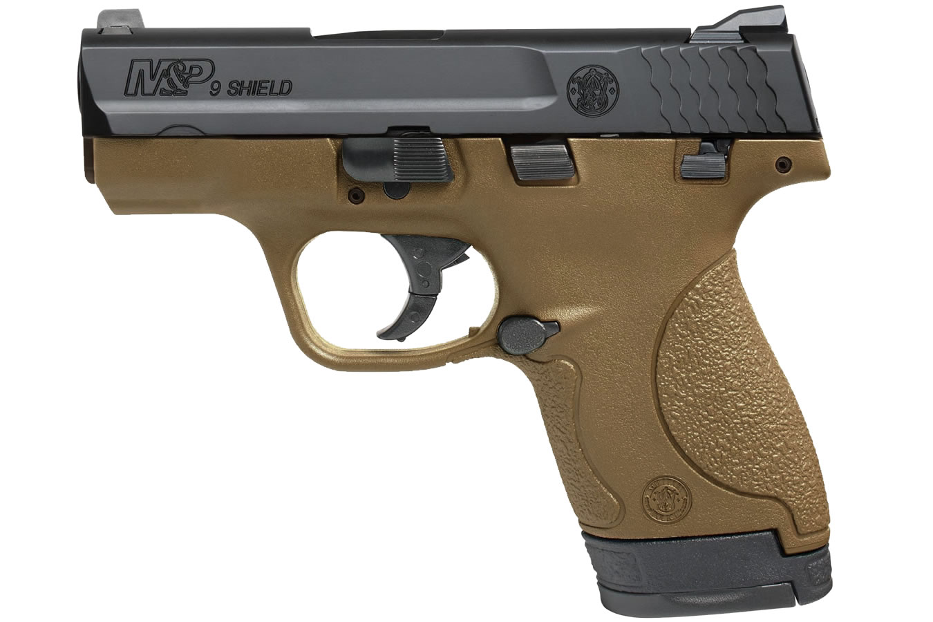 MP9 SHIELD 9MM FDE WITH THUMB SAFETY