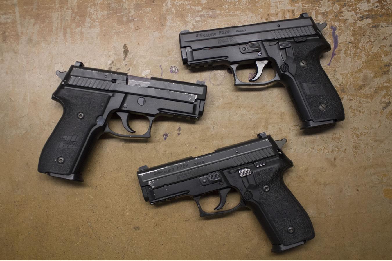 P229R 40 S&W DA/SA Police Trade-in Pistols with Rail (Fair Condition)