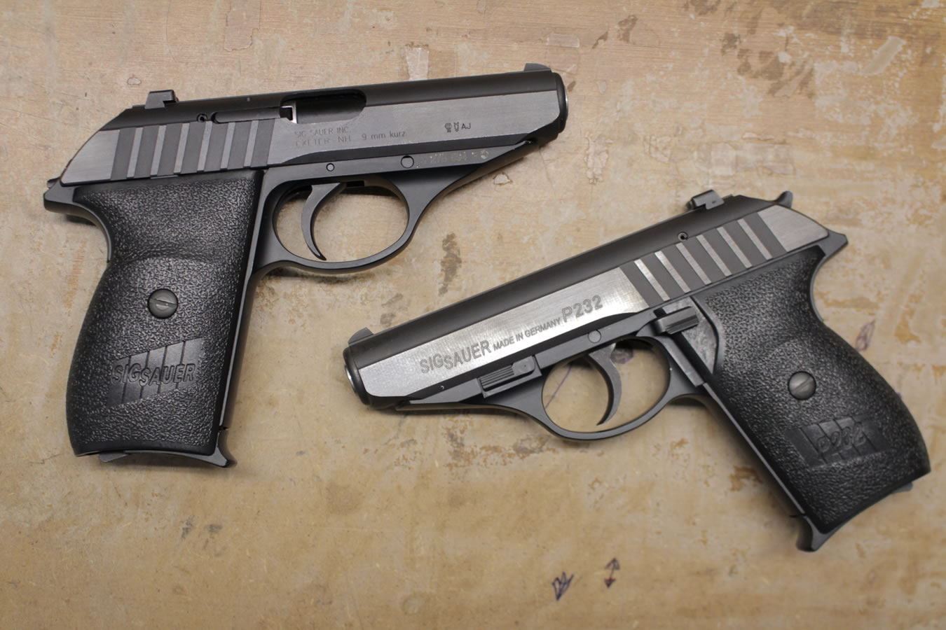 sig sauer p232 380 acp da sa police trade in pistols good condition