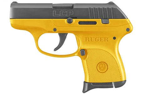 RUGER LCP 380ACP YELLOW CERAKOTE