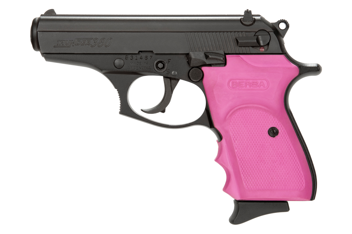 THUNDER 380 MATTE WITH PINK RUBBER GRIPS